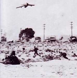 Pesawat tempur siap membom pada saat perang enam hari