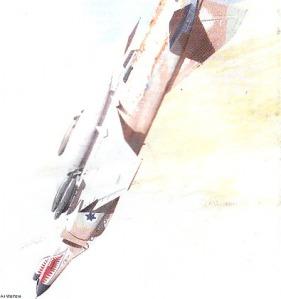 Ilustrasi pesawat tempur pada Perang Yom Kippur