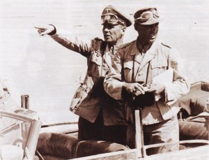 Rommel diatas kendaraan tempur