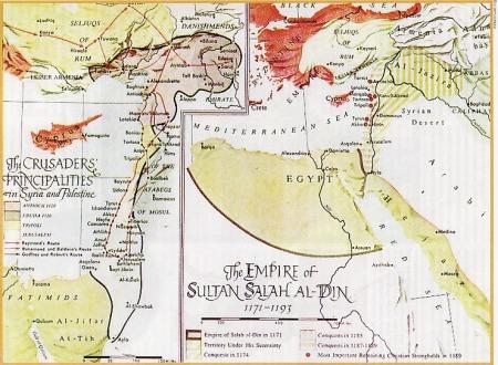 Peta Emperium Kekuasaan Salahuddin
