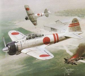 Ilustrasi Pesawat Tempur Jepang