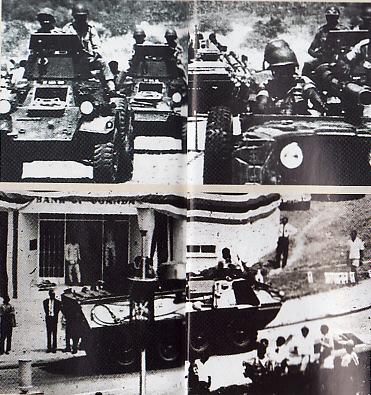 Pasukan Idi Amin melancarkan kudeta berdarah yang memakan korban  puluhan ribu nyawa
