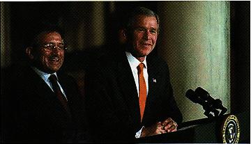 Jenderal Pervez Musharraf bersama Presiden AS