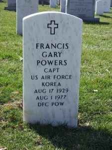 Francis Gary Powers, Grave of Francis Gary Powers in Arlington National Cemetery, Arlington, Virginia. American Captain Francis Gary Powers was the pilot of the U-2 Spy Plane that was shot down in 1960 over the Soviet Union Born: 17 August 1929, Died 1 August 1977.