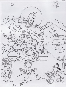 Gambaran Vasubandhu, pendeta Budha dari India yang mendirikan biara di Nepal pada abad ke-5 SM.