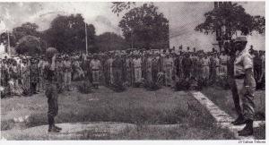 Salah satu respons yang ditanggapi oleh TNI AL atas perintah Trikora adalah pengadaan sukarelawan perang dalam wkatu terbatas. Suasana ketika Pelatihan untuk warga sipil terpilih